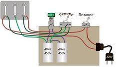 Картинки по запросу как подключить трехфазный двигатель к 220
