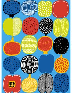 Marimekko online shop - Finnish fabrics and textiles Motifs Textiles, Textile Patterns, Textile Design, Fabric Design, Print Patterns, Floral Patterns, Marimekko Fabric, Illustrations Vintage, Stampin Up