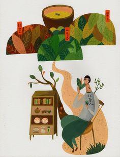 Let Inca Pan's exquisite illustrations transport you into a strange land