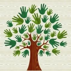 Illustration of Eco friendly tree hands illustration for greeting card over wooden pattern. file layered for easy manipulation and custom coloring. vector art, clipart and stock vectors. Fall Crafts, Diy And Crafts, Arts And Crafts, Paper Crafts, Tree Crafts, Hand Illustration, Diy For Kids, Crafts For Kids, Wooden Pattern