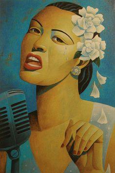 Billie Holiday by Toronto artist Jody Hewgill