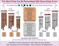 Prayer of Saint Patrick - Biblical Memorial Wind Chimes, The Perfect Personalized Sympathy Gift!
