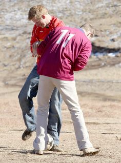 Prince William And Harry clowning around on a visit to Lesotho.