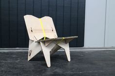 Ratchet Strap Chair made with plywood  #cnc #furnituretutorials   http://cnc.gallery/
