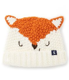5f08a0eb33f Joules Baby Boys Newborn-24 Months Chummy Character Fox Hat