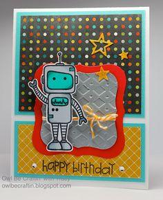 Tracy Mae Design: Robot Birthday Wishes