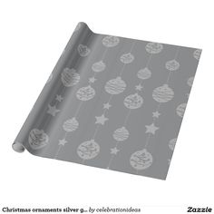 Sold. #Christmas #ornaments silver grey pattern #wrappingpaper Available in different products. Check more at www.zazzle.com/celebrationideas