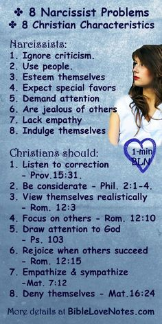 8 Narcissist Problems - 8 Christian Responses