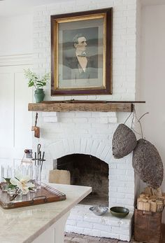 "Photo Credit: Caroline Allison. The kitchen hearth of Bortherum. <br><b><em><a href=""http://gardenandgun.com/blog/inside-beautiful-botherum""target=""_blank"">>Read the full article here</a></em></b></br>"
