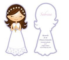 First Communion Primera Comunion Silhouette Cameo Portrait First Communion Banner, Girls First Communion Dresses, Première Communion, Communion Cakes, First Holy Communion, Communion Banners, Silhouette Cameo, Communion Hairstyles, Ideias Diy