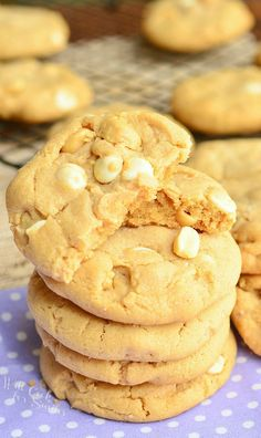 Sweet and Salty Peanut Butter White Chocolate Cookies 2 from willcookforsmiles.com