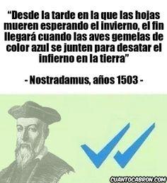 Nostradamus ya predijo lo del doble check azul de Whatsapp