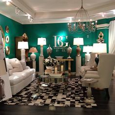 Emerald green accent wall