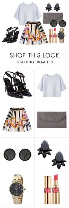 """""""Untitled #393"""" by oychanel ❤ liked on Polyvore featuring Valentino, Alexander Wang, Alberta Ferretti, John Lewis, The Row, Persy, Marc Jacobs and Yves Saint Laurent"""