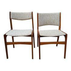 Danish Modern Teak Dining Chairs - A Pair - Image 1 of 7