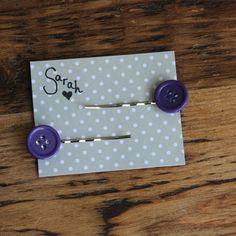 Personalised Purple Hairpin  birthday by TheCraftyRedButton