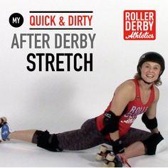 Stretching after derby Like & Repin. Follow Noelito Flow instagram http://www.instagram.com/noelitoflow