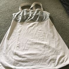Lulu top White bottom and straps with grey and white frontcriss-cross straps in back lululemon athletica Tops Tank Tops