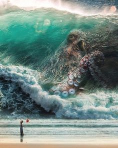 Release the Kraken! - Food Meme - Release the Kraken! The post Release the Kraken! appeared first on Gag Dad. Arte Horror, Horror Art, Fantasy Creatures, Mythical Creatures, Sea Creatures, Octopus Art, Octopus Sketch, Octopus Mermaid, Sea Monsters