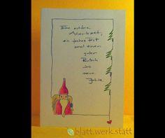 **Motiv: Nikolaus Hochwertige Klappkarte mit individuell auf deine Wünsche angepasster Gestaltung inclusive passendem Umschlag. DIE ganz besondere Karte zu Weihnachten oder schon in der...
