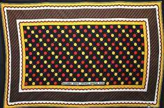 アフリカの布カンガ ot-11~愛ある家(黒×黄) - アフリカ雑貨・カンガ布・食品・ティンガティンガアート~アフリカフェ@バラカのセレクトショップ