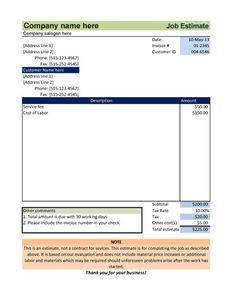 small business invoice ideas   Interior Design Invoice Template ...