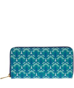 Green Liberty London Zip-Around Wallet | Accessories | Liberty.co.uk
