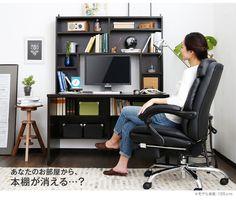 【楽天市場】【送料無料】 パソコンデスク 机 パソコン机 desk PCデスク 木製 勉強机 パソコン台 収納 家具 学習デスク シンプル 本棚 送料込み:BAROCCA(バロッカ)