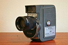 Unusual Argus / Mansfield Holiday Zoom MM, 8mm Cine Camera (c.1961). $55.00, via Etsy.