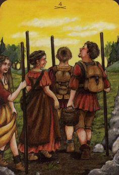 Four of Wands - Anna.K Tarot by Anna Klaffinger