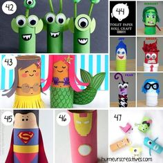 Find more than 80 ideas for crafts for kids to make with rolls of toilet paper. favorite characters, animals, vehicles, motor games and more! Diy Pour Enfants, Crafts For Kids To Make, How To Make, Toilet Paper Roll, Motor Skills, Origami, Babysitting, Activities, Games