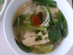 Vietnamese pho – chicken noodle soup