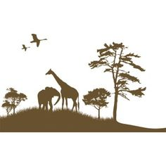 African Grand Safari   These Are Wall Decals For $118  (This Is Mural  Sized!) I Think Iu0027d Like To Paint It On The Boyu0027s Walls