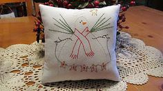 Snowman Pillow/Tuck - pinned by pin4etsy.com