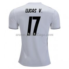 online store 0a700 b9a79 Fotbollströjor Real Madrid 2018-19 Lucas Vazquez 17 Hemmatröja