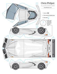 For Car and Driver Paper Model Car, Paper Car, Paper Models, Origami, Puzzle Crafts, Wall Shelves Design, Paper Crafts, Diy Crafts, Craft Work