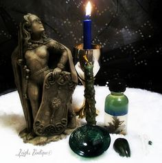 Morrigan Celt Goddess Altar Set by leighswiccanboutique on Etsy
