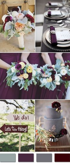 Falling in love with these great fall wedding ideas september plum and grays fall wedding color ideas purple wedding colors junglespirit Image collections