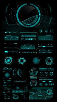 Technology interface template design elements vector | premium image by rawpixel.com Interface Design, Ui Ux Design, Design Page, Mobile Ui Design, Dashboard Design, User Interface, Game Design, Icon Design, Layout Design