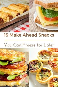 Freezable snacks to have on hand!