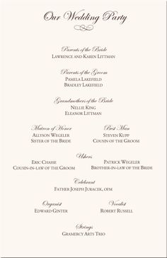 Catholic Mass Wedding CeremonyCathol Wedding Stationary Ideas