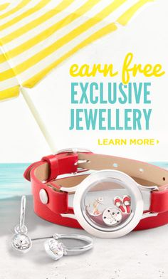 Host a Jewellery Bar - online or in home- and earn Free Origami Owl Jewellery!