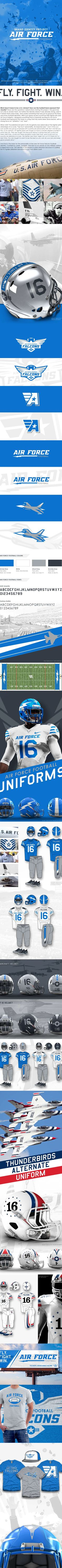 Air Force Football - Brand Identity Project on Behance