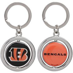 Cincinnati Bengals Football Spinner Keychain - $5.59