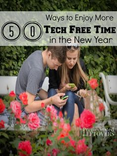 50 Ways to Reduce Technology Use in the New Year- Let 2016 be the year your rely less on tech time and more on family time! Give these alternatives a try.