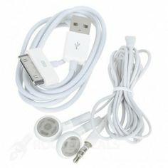 3.5mm Koptelefoon met microfoon + USB oplader/data kabel - Rocketdeals