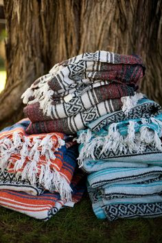 these blankets (ponchos?  look like yoga blankets to me) look like they could be amazing for when people get cold at reception/dinner!