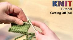 Knitting video tutorial: casting off (co)