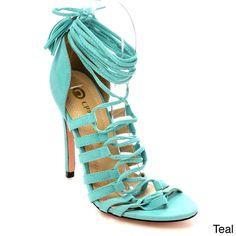 Beston CC69 Women's Fringe Stiletto Sandals