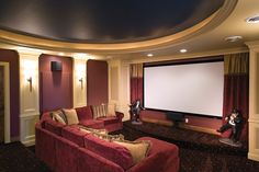 Great use of color in this brilliant theater room - plan 091S-0001 - houseplansandmore.com